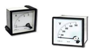 Indicadores analógicos de painel para corrente contínua (DC)